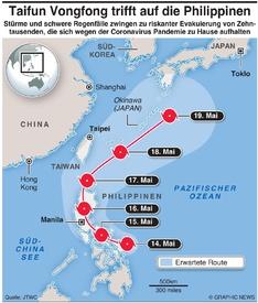 WETTER: Taifun Vongfong infographic