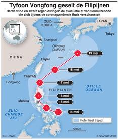 WEER: Tyfoon Vongfong infographic