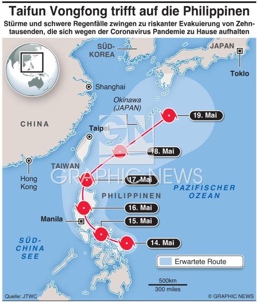 Taifun Vongfong infographic