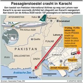 RAMP: PIA-vlucht crasht in Karachi infographic