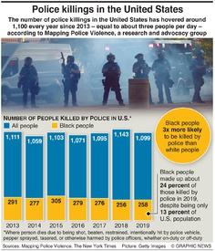 CRIME: Killings by U.S. police infographic