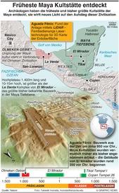 Archaeologie:Früheste Maya Kultstätte infographic