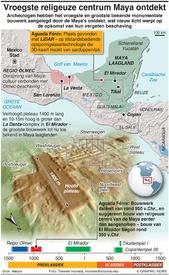 ARCHEOLOGIE: Vroegste religeuze centrum Maya ontdekt  (EMBARGOED UNTIL WED 16:00BST) infographic