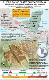 ARQUEOLOGIA: Revelada a mais antiga estrutura cerimonial Maia infographic