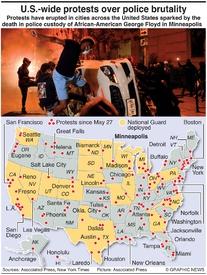 CRIME: U.S. Floyd death protests infographic
