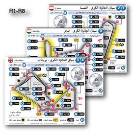 فورمولا واحد: حلبات سباقات الجائزة الكبرى الأوروبية ٢٠٢٠ infographic