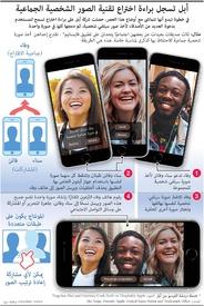 تكنولوجيا: أبل تسجل براءة اختراع تقنية الصور الشخصية الجماعية infographic