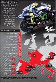 سباق دراجات: موتو جي بي يستعد  لاستئناف السباقات infographic