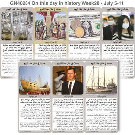 تاريخ: حدث في مثل هذا اليوم - ٥ - ١١ تموز - الأسبوع ٢٨ infographic