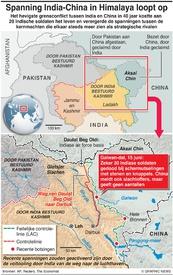 POLITIEK: Impasse India-China in Himalaya infographic