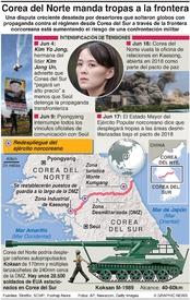 EJÉRCITOS: Corea del Norte manda tropas a la frontera infographic