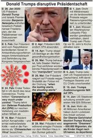 POLITIK: Trumps disruptive Präsidentschaft infographic