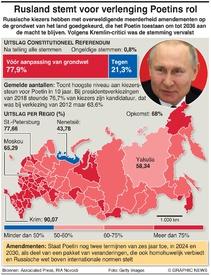 RUSland: Uitslag constitutionele stemming infographic