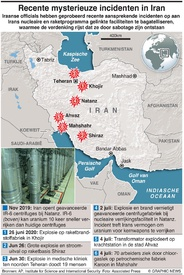 MILITARY: Mysterieuze incidenten in Iran infographic