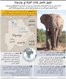 أفريقيا: نفوق غامض لمئات الفيلة في بوتسوانا infographic