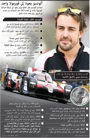سباق سيارات: ألونسو يعود إلى فورمولا واحد infographic