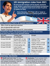 BREXIT: Britain's new immigration system infographic