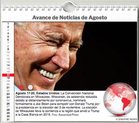 AGENDA MUNDIAL: Agosto 2020 Interactivo infographic