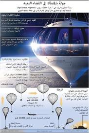 فضاء: جولة بالمنطاد إلى الفضاء البعيد infographic