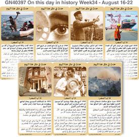 تاريخ: حدث في مثل هذا اليوم - ١٦ - ٢٢ - الأسبوع ٣٤ infographic
