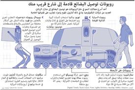 تكنولوجيا: روبوتات توصيل البضائع قادمة إلى شارع قريب منك infographic
