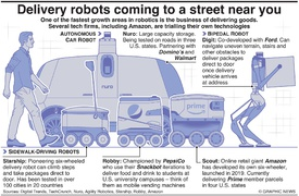 TECH: Delivery robots coming to a street near you infographic
