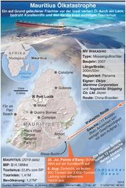 UMWELT: Mauritius Ölkatastrophe infographic