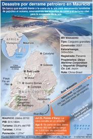 ÅMBIENTE: Desastre por derrame petrolero en Mauricio  infographic