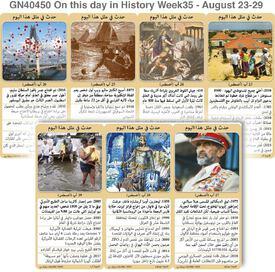 تاريخ: حدث في مثل هذا اليوم - ٢٣ - ٢٩ آب - الأسبوع ٣٥ infographic