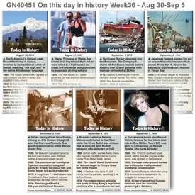 HISTORY: On this day August 30 - September 05, 2020 (week 36) infographic
