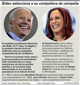 ELECCIÓN EN EUA: Biden escoge compañera de candidatura  infographic