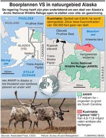 MILIEU: Amerikaanse boorplannen voor natuurgebied Alaska infographic