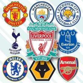 SOCCER: English Premier League crests 2020-21 infographic