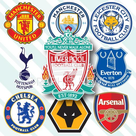 English Premier League crests 2020-21 infographic