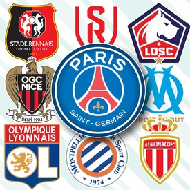 SOCCER: French Ligue 1 crests 2020-21 infographic