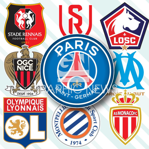 French Ligue 1 crests 2020-21 infographic