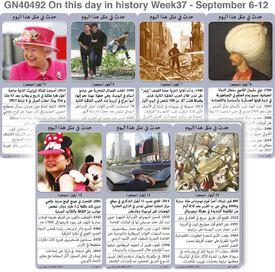 تاريخ: حدث في مثل هذا اليوم - ٦ - ١٢ أيلول - الأسبوع ٣٧ infographic