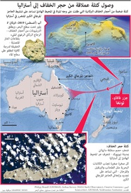 بيئة: وصول كتلة عملاقة من حجر الخفاف إلى أستراليا infographic