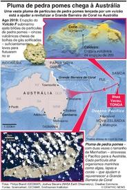 AMBIENTE: Pluma de pedra pomes chega à Austrália infographic