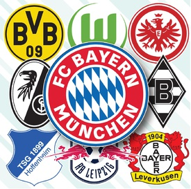 SOCCER: German Bundesliga crests 2020-21 infographic