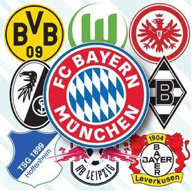 German Bundesliga crests 2020-21 infographic