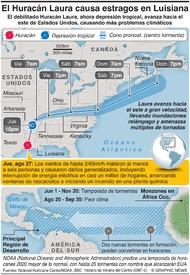 CLIMA: El Huracán Laura causa estragos en Luisiana infographic