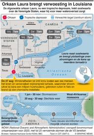 WEER: Orkaan Laura brengt verwoesting in Louisiana infographic