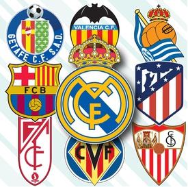 SOCCER: Spanish La Liga crests 2020-21 infographic