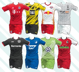 SOCCER: German Bundesliga kits 2020-21 infographic