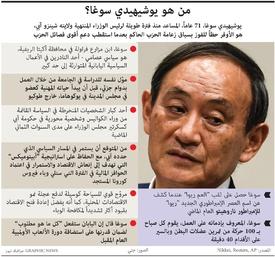 سياسة: من هو يوشيهيدي سوغا infographic
