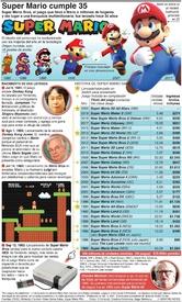 JUEGOS: Super Mario cumple 35 infographic