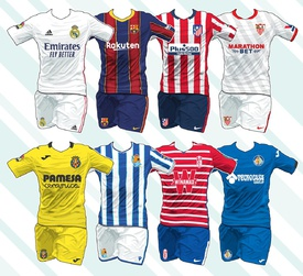 SOCCER: Spanish La Liga kits 2020-21 infographic