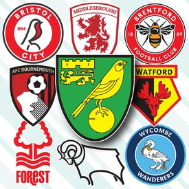 SOCCER: English Championship crests 2020-21 infographic