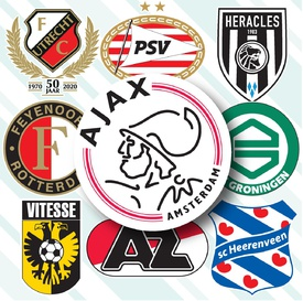 SOCCER: Dutch Eredivisie crests 2020-21 infographic